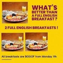 Buy one, get one free on breakfast