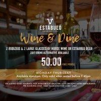 Wine & Dine Deal at Estabulo